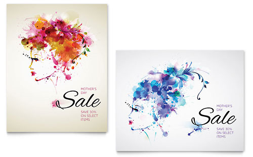 Mother's Day Sale Poster Template - Microsoft Office