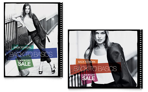 Labor Day Fashion Sale Poster Template - Microsoft Office