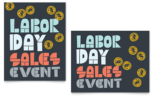 Labor Day Sale Poster Template - Microsoft Office