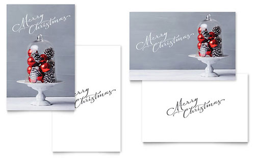 christmas display greeting card glittering celebration greeting card template word