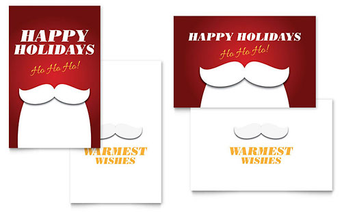 Ho Ho Ho - Sample Greeting Card Template - Word & Publisher