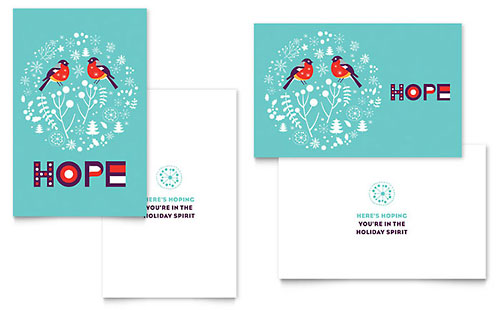 Hope - Sample Greeting Card Template - Word & Publisher