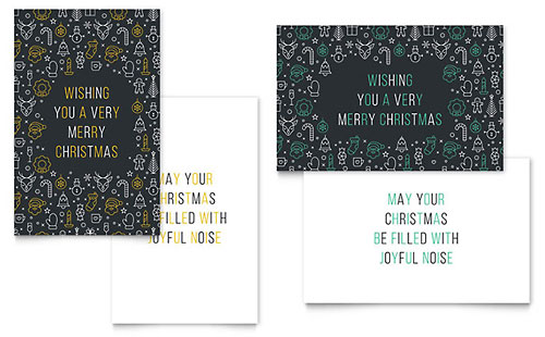 Christmas Wishes - Sample Greeting Card Template - Word & Publisher
