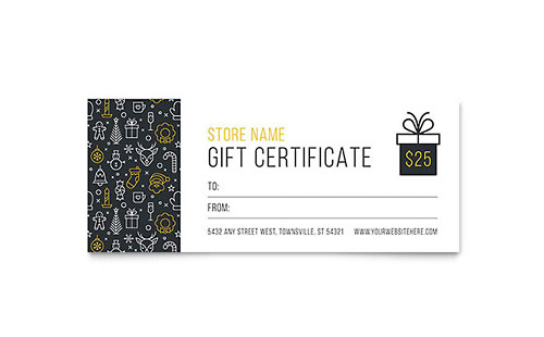 Christmas Wishes Gift Certificate Template Design  Christmas Word Document Template