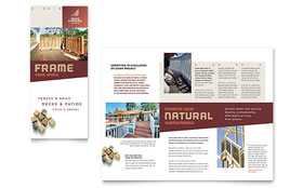 Decks & Fencing Tri Fold Brochure Template