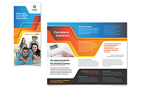 HVAC Tri Fold Brochure Template