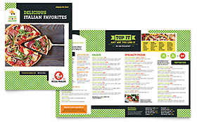 pizza parlor take out brochure template word publisher. Black Bedroom Furniture Sets. Home Design Ideas