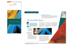 Commercial Real Estate Property Tri Fold Brochure Template