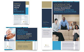 Small Business Consulting Flyer & Ad - Word Template & Publisher Template