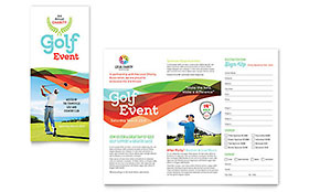 Charity Golf Event Tri Fold Brochure Template