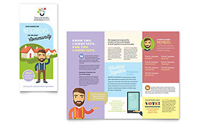 Homeowners Association Tri Fold Brochure Template