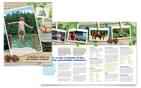 summer camp brochure template - horse riding stables camp flyer ad template word