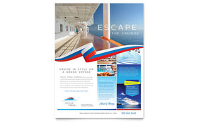 Cruise Travel Flyer - Word Template & Publisher Template