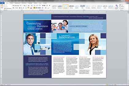 microsoft word web page templates