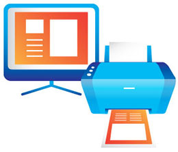 Display and Print Documents Icon