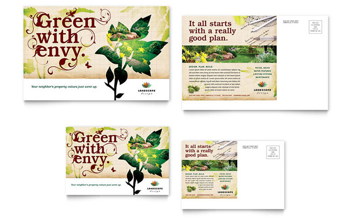 Landscape Design Postcard Template Word Amp Publisher