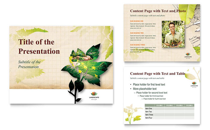 Landscape Design PowerPoint Presentation Template - PowerPoint