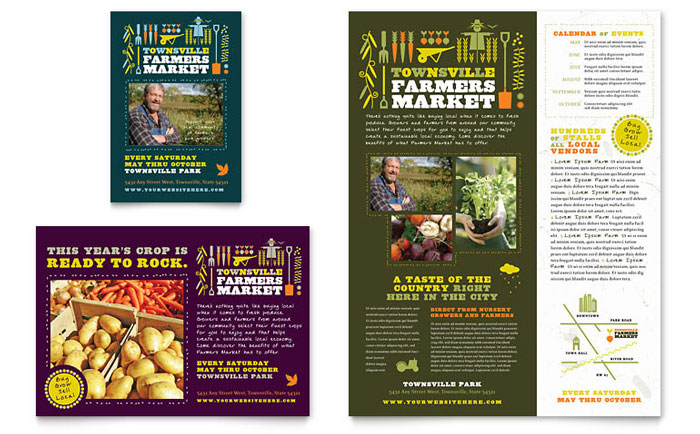 Farmers Market Flyer & Ad Template - Word & Publisher
