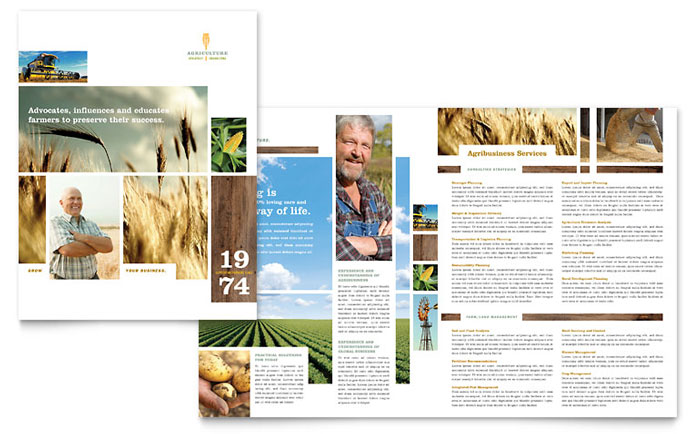 11x17 half fold brochure template - farming agriculture brochure template word publisher