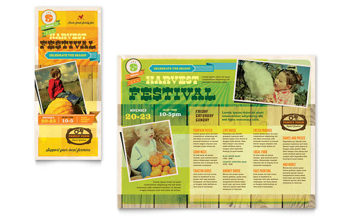 Harvest Festival Brochure Template - Word & Publisher