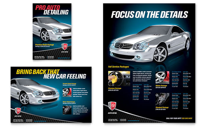 Auto Detailing Flyer & Ad Template Download - Word & Publisher - Microsoft Office