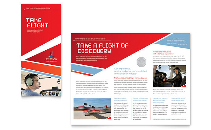 Aviation flight instructor brochure template word for Product brochure template word