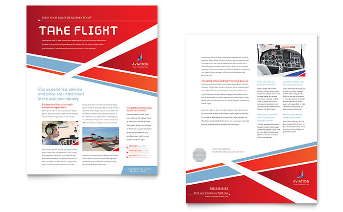 Aviation Flight Instructor Datasheet Template - Word & Publisher