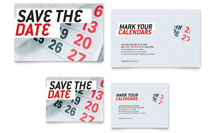 Superb Business Save The Date Templates Free