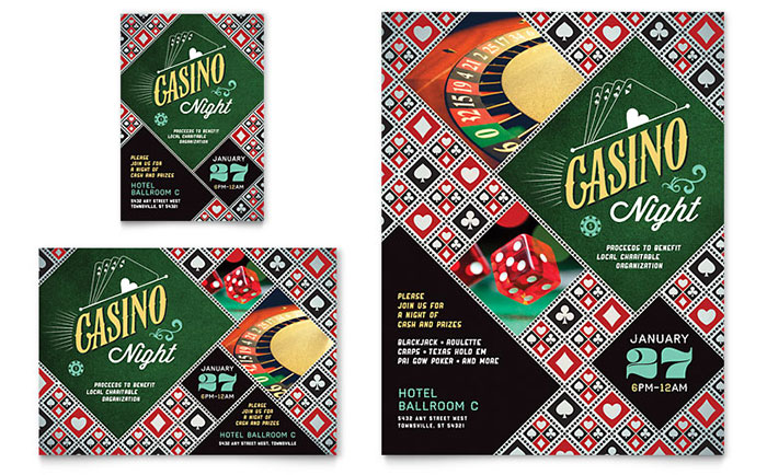 Casino Night Flyer & Ad Template Download - Word & Publisher - Microsoft Office