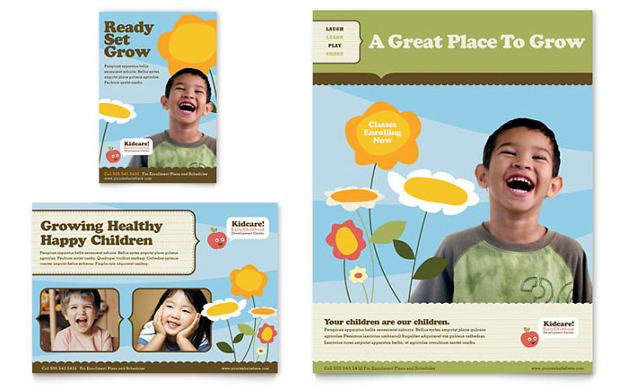 Child Development School Flyer & Ad Template - Word & Publisher