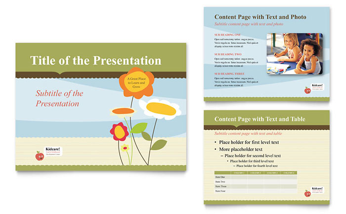 Child Development School PowerPoint Presentation Template Download - Microsoft Office