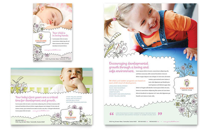 Babysitting  Daycare Flyer  Ad Template  Word  Publisher