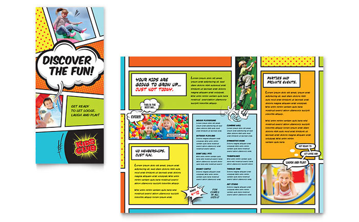 Kids Club Brochure Template Word Publisher - Child care brochure templates free