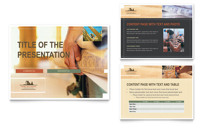 Home Builders Construction PowerPoint Presentation PowerPoint - Construction brochure templates