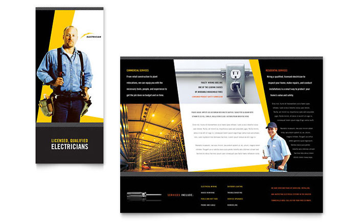electrician brochure template