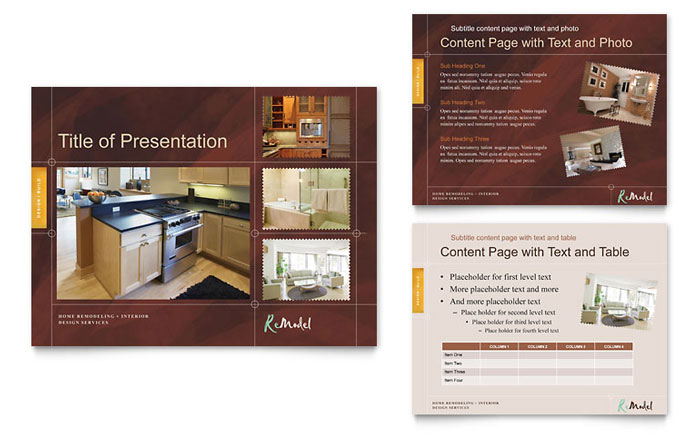 home remodeling powerpoint presentation - powerpoint template, Presentation templates