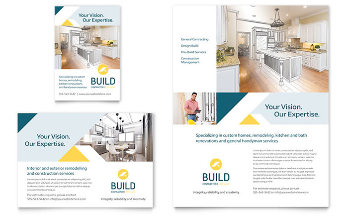 Contractor Flyer & Ad Template - Word & Publisher