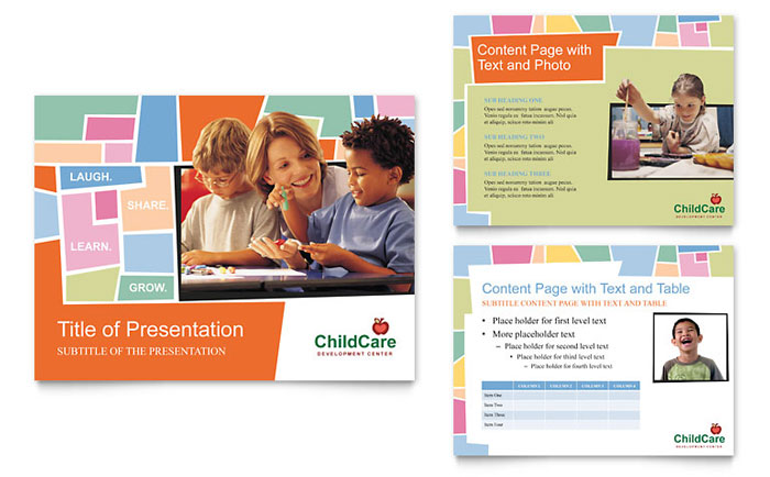 Preschool Kids & Day Care Powerpoint Presentation - Powerpoint
