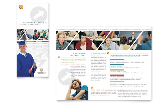 college brochure design pdf college university brochure template word publisher