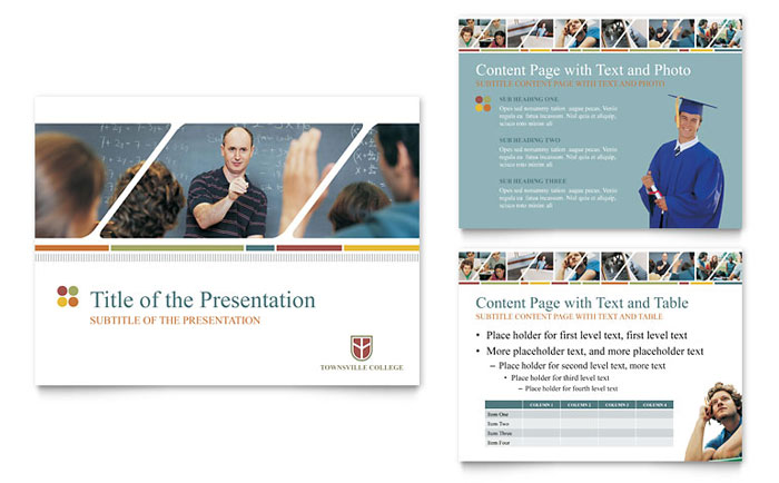 College & University PowerPoint Presentation Template - PowerPoint