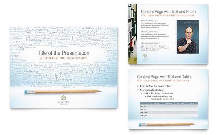 Academic Tutor & School PowerPoint Presentation Template Download - Microsoft Office