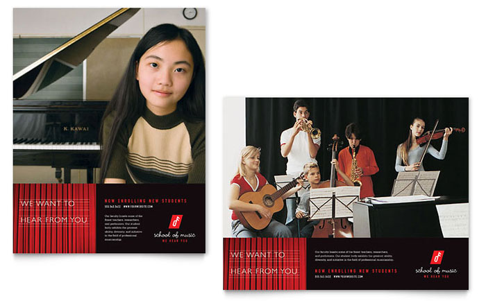 music school poster template
