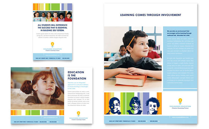 Learning Center & Elementary School Flyer & Ad Template - Word & Publisher