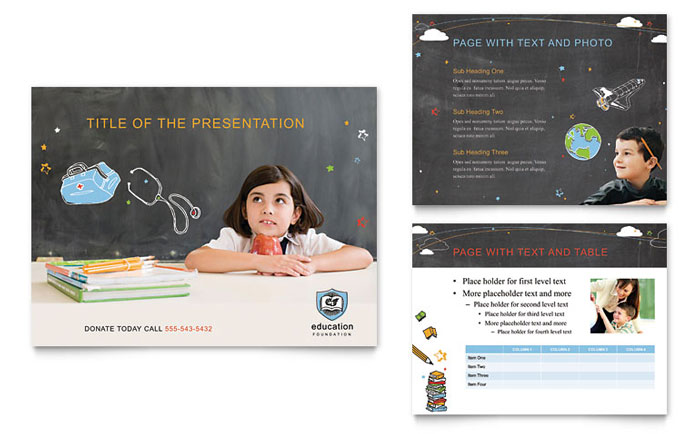 Education Foundation  School Powerpoint Presentation  Powerpoint