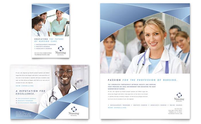 nursing school hospital flyer  u0026 ad template