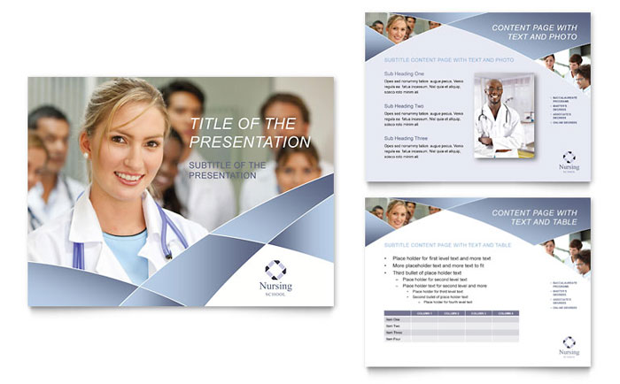 Nursing School Hospital PowerPoint Presentation PowerPoint Template – Hospital Flyer Template