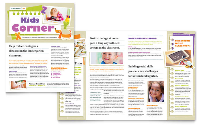 free publisher newsletter templates - kindergarten newsletter template word publisher