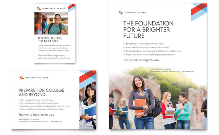 Community College Flyer & Ad Template - Word & Publisher