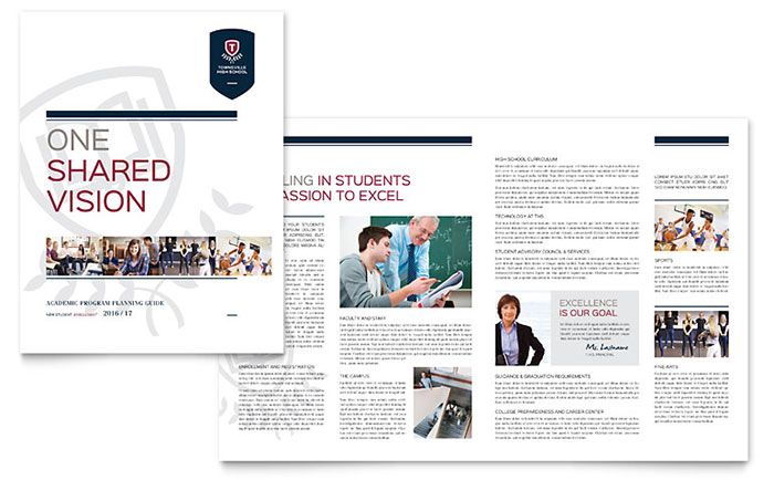 High School Brochure Template Word Publisher - School brochures templates
