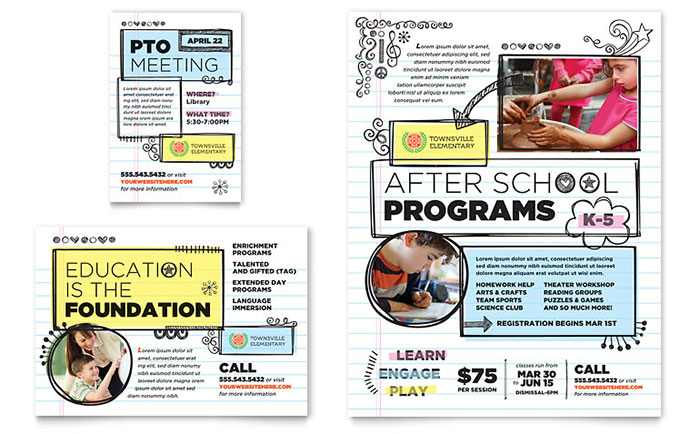 Elementary School Flyer & Ad Template - Word & Publisher